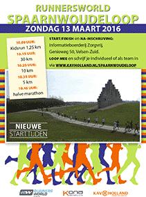 Poster Spaarnwoudeloop 2016