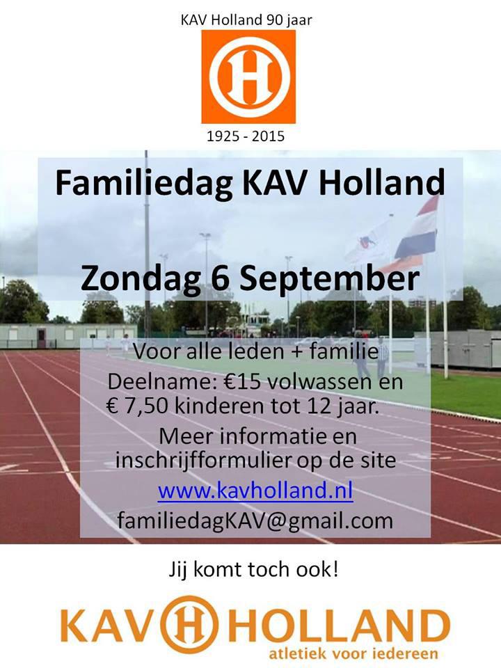 Kom naar de familiedag van KAV Holland op 6 september