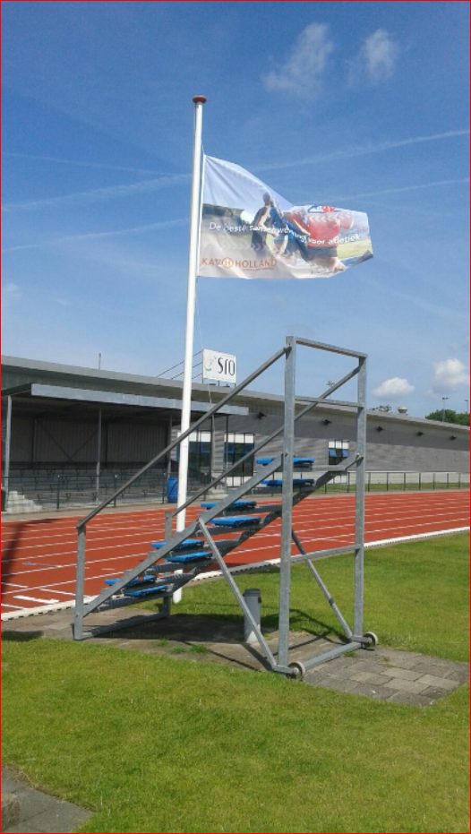 Nieuwe vlag op de baan