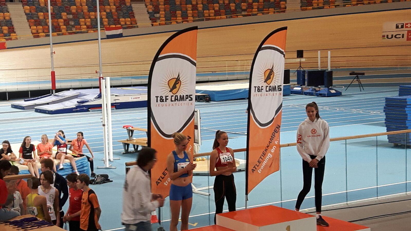 Fay Witte derde van Nederland met hoogspringen