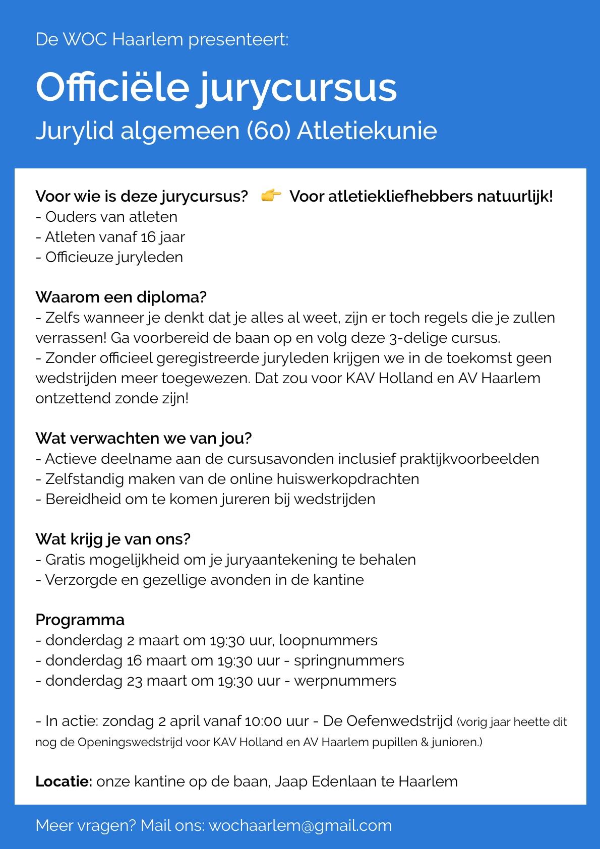Jurycursus op 2, 16 & 23 maart