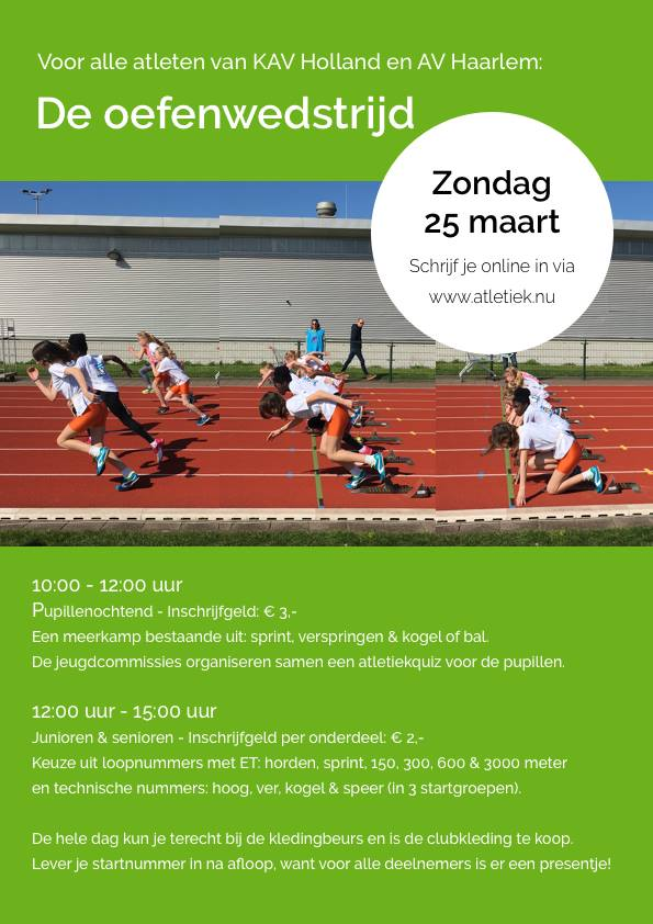 Oefenwedstrijd @ Atletiekbaan   Haarlem   Noord-Holland   Nederland