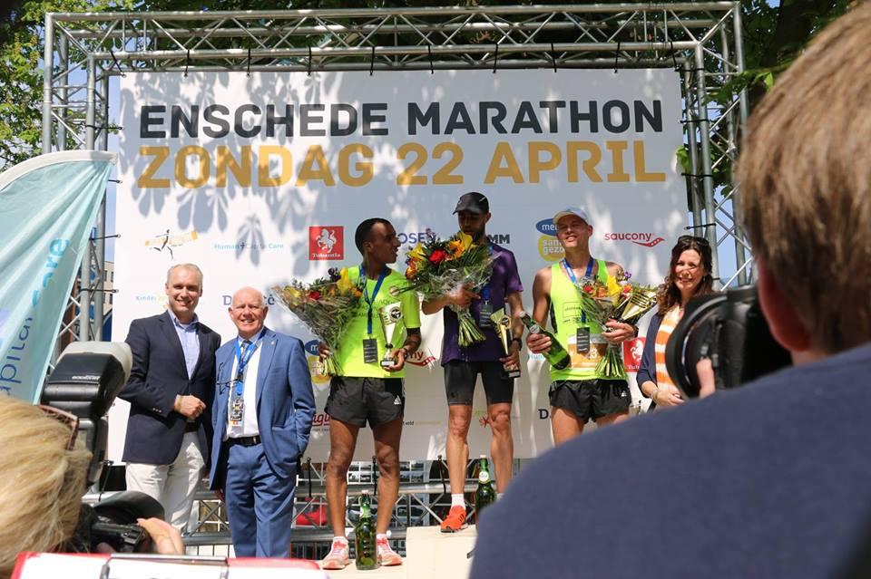 Christiaan 3e in Enschede bij debuut op de marathon