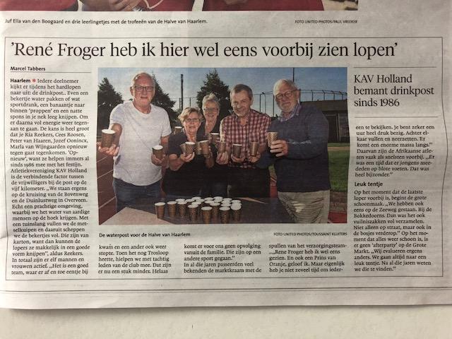 KAV Holland bemant drinkpost sinds 1986