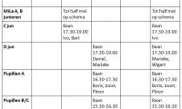 Aangepast trainingsschema ingaand op 29 april