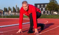 Atletiekbaan beschikbaar voor individuele trainingen lopers