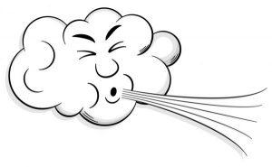 blazende wind